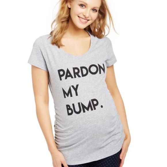 f17dae112 Motherhood Maternity Tops | Pardon My Bump Tshirt | Poshmark